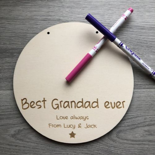 Draw your own picture personalised plaque